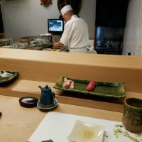 寿司屋さんのカウンター