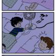絵日記:とある寝苦しい夜。