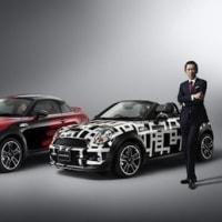 布袋寅泰氏とのMINI CoupéならびにMINI Roadsterのコラボレーション・モデルが、MINIショールームに登場