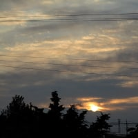 ないものは探してもない。今朝、1月20日の日の出のころの風景を見ながら。