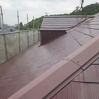豊中 屋根塗装中