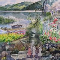 喜寿記念水彩画展 今日は最終日です。