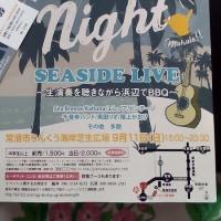 9月11日、海辺ライブします!!