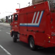 Fire truck is also called to be fire engine, fire-fighting vehicle  and so on.