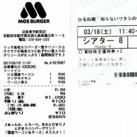 本日の優待生活 モスバーガー&『ひるね姫 ~知らないワタシの物語~』