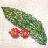 トマトや野菜の絵