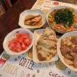 ぶりポン&バラ焼き&おかひじきサラダ&ピーナッツクロワッサン