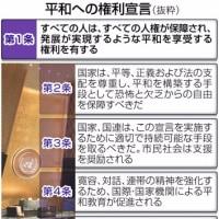 日本国憲法の理念が反映されているのに当の日本国は反対という摩訶不思議