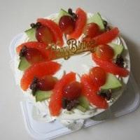 今月2回目のバースデーケーキ…