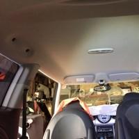 BMWミニ 天井張替えです