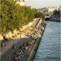 パリの夕涼み