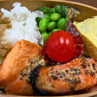 鮭のマスタード焼き弁当