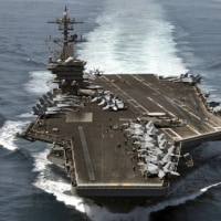 米国 南シナ海に空母の戦闘部隊を派遣