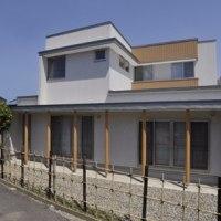 神明の二世帯住宅、外観写真撮影。