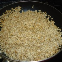 胚芽押し麦で グラノーラを作ってみました