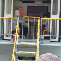 防災訓練 地震体験車乗ってみました