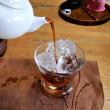 2017・7・23 中華街・悟空茶荘風に陳年・普洱茶の冷茶(^^♪