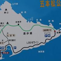 五本松公園から見るツツジと大山