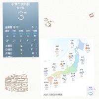千葉の天気と各地の天気です。今日は東京で雪が降るかもしれません。