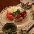 和風献立 ポテトコロッケ・冬瓜のエビそぼろあんかけ・たことオクラの酢の物・いんげんのごま味噌和え