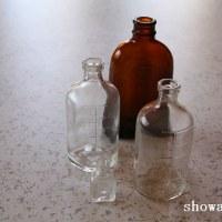 ガラス製薬瓶 他キンカン、バリカン油