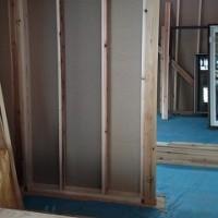 先週の工事 屋根工事、木工事