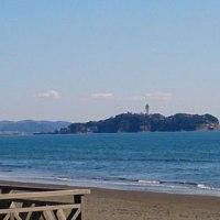 富士山と江の島の写真