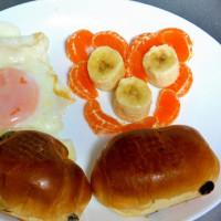 定番の朝食 家内の復調気配が嬉しくて!