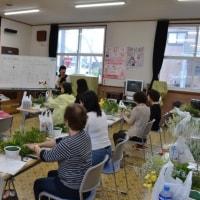 本日の作品紹介 - 町内会フラワーアレンジメント教室