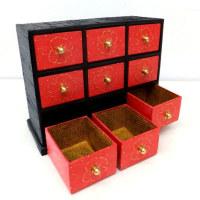 韓紙工芸作品 新作ご紹介「2017年展示会に向けて」(16)赤の薬箪笥