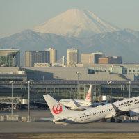 羽田名物 富士山絡みのハミングバードデパーチャー撮影は、やっぱり難しいなぁ・・・1月12日