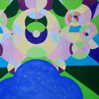 ポスターデザイナーからアクリル画に挑戦中!心象風景を抽象画にしてみたら。描くことは楽しい。