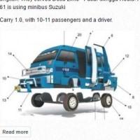 フリーのペーパークラフトSUZUKI-Angkot(1boxのバン)を作ってみる