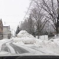 除雪が追いつかない