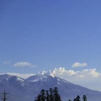 冷え込んだ朝の浅間山