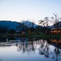 軽井沢町 矢ヶ崎公園の夕景