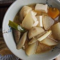 農家の一汁一菜 和風ロール白菜 具沢山お味噌汁
