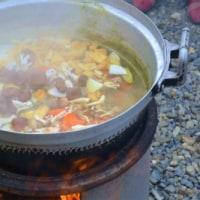 贅沢な芋煮会