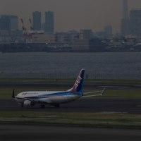 羽田とスカイツリーと飛行機