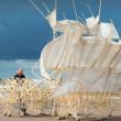 水を察知できる巨獣 人工生命体 「ストランドビースト」 テオ・ヤンセン展