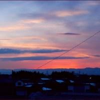 138タワーの見える夕景