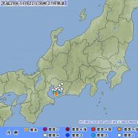 2016年11月22日(火) 06時21分 - 三河湾 M3.3 (最大震度2) 深さ 約10km