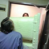 マンションの浴室のリフォーム ユニットバスの搬入が大変です