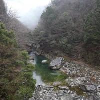 雨の美渓・関門(3月21日)