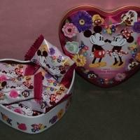 2894  (・´`(◆)   お花に囲まれたミッキー&ミニーのチョコレート