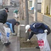 今年初の道路清掃と公園清掃実施!