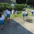 7月19日に、小中合同ボランティア活動が行われる