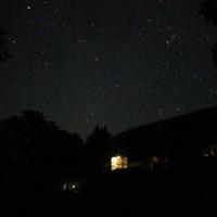 蓼科山荘より ペルセウス座流星群の日の話と星空の写真