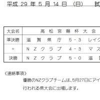 試合結果 5/14 (成年C級)