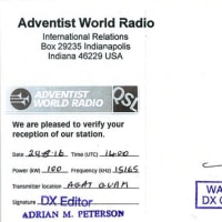 AWR WAVESCAN Grand Finale DX Contest  ベリカード